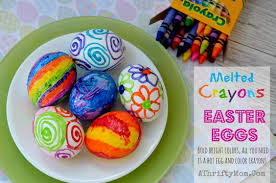 Coloring Eggs Melted Crayon Easter Eggs How To Dye Easter Eggs With Melted