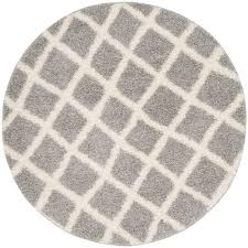 6 X 6 Round Area Rugs by Safavieh Farrah Gray Black 6 Ft X 6 Ft Round Area Rug Adrw109b