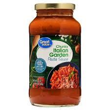 wedding gift spaghetti sauce great value chunky italian garden pasta sauce 24 oz walmart