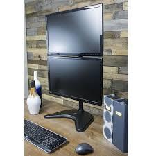 2 Monitor Computer Desk Super Pc Dual Monitor Vertical Desk Stand