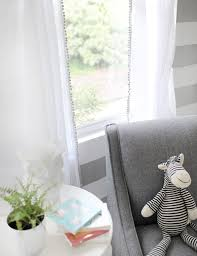 White Curtains With Pom Poms Decorating Lovely White Curtains With Pom Poms Decorating With Ba Nursery