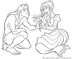 coloring pages tarzan coloring pages jane disney