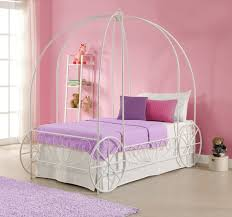 Canopy Bedroom Sets For Girls Amazon Com Metal Twin Carriage Bed White Frame Only Requires A