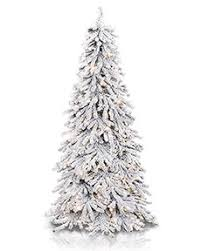 wondrous slim flocked christmas trees artificial astonishing 10