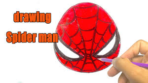 draw spiderman face drawing lessons kids