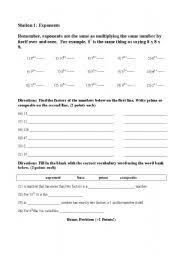 english worksheets exponents prime and composite numbers