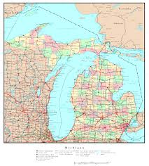 Labeled Map Of North America by Michigan Labeled Map