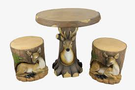 Novelty Coffee Tables by 3 Piece Deer And Fawn In Tree Table U0026 Chair Novelty Garden Patio