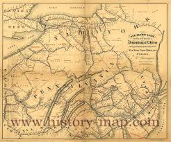 Map Pennsylvania by Railroad Map