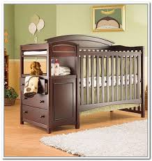 cribs with changing table and storage changing table storage bins home design ideas
