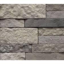 Stacked Stone Veneer Backsplash by Shop Airstone Spring Creek Concrete Stone Veneer At Lowes Com