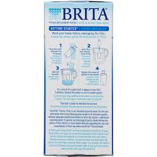 brita water filter pitcher advanced replacement filters 4 count