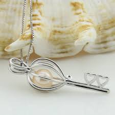 pearl pendant necklace wholesale images Wholesale heart key 925 sterling silver locket pendant necklace JPG