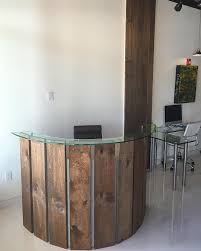 Circular Reception Desk by Curved Reception Desk And Wood Wall Column Our Portfolio