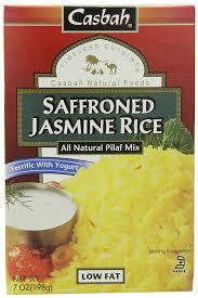 Casbah Mediterranean Kitchen Amazon Com Casbah Rice Pilaf Mix Saffroned Jasmine 7 Ounce