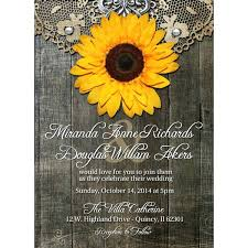 wedding invitations quincy il sunflower wedding invitations plus rustic sunflower wedding
