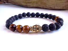 man bracelet stone images Catchy bracelet man amazon com ostan men braided leather silver jpg
