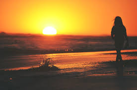 sunset alone wallpapers on sunset beach hd wallpapers 21868 baltana
