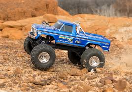 stampede bigfoot 1 original monster truck blue madness