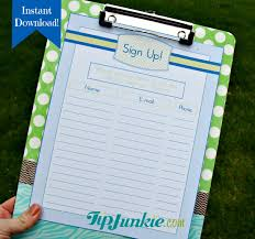 14 sign up sheets potluck snack church sports