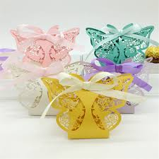 butterfly centerpieces laser cut vine flower butterfly candy boxes souvenirs wedding