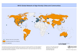 world cities on map about the global network for age friendly cities and communities