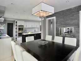 kitchen l with shaped also island and a sleek black and white