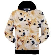 Meme Hoodie - japanese doge meme jacket funny joke dog casual man hoodie