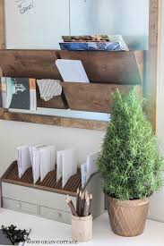Office Wall Organizer Ideas Galvanized Metal U0026 Wood Wall Organizer The Wood Grain Cottage