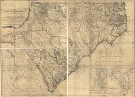 Map Of North And South Carolina An Accurate Map Of North And South Carolina With Their Indian