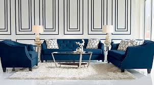 Blue Living Room Set Sofia Vergara Monaco Court Navy 7 Pc Living Room Living Room