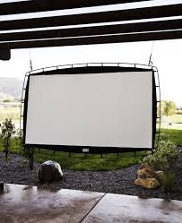 outdoor movie theater screen for neighborhood movie nights in the