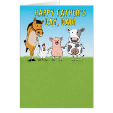 Raised In A Barn Fathers Day Pig Cards Greeting U0026 Photo Cards Zazzle