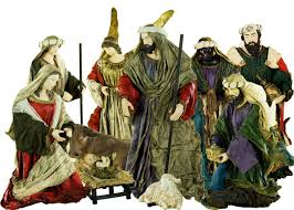 decorating chic holy family nativity sets for christmas