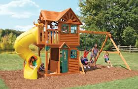 Sears Backyard Playsets Cedar Summit Mountainview Resort Playset From Costco Outside
