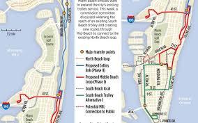 Miami Neighborhoods Map by Miami Beach Considering Trolleys Across City Miami Herald