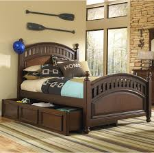 Full Storage Beds Samuel Lawrence Expedition Youth Full Low Post Bed W Trundle