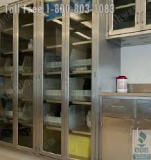 stainless steel medical wall cabinets or surgical storage with