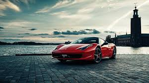 Ferrari 458 Gold - 1920x1080 wallpaper ferrari 458 italia ferrari 458 rear view night