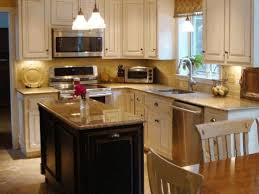 small kitchen with island design built in wine rack wood finished