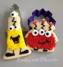 cookies with character sprinkle monster cookies tutorial on