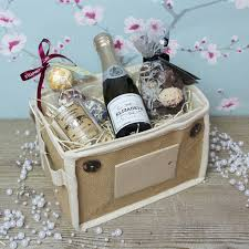 Pamper Gift Basket Prosecco And Treats Pamper Pack By Intervino Notonthehighstreet Com