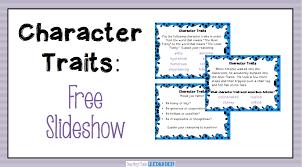 teaching character traits low prep activities teaching made