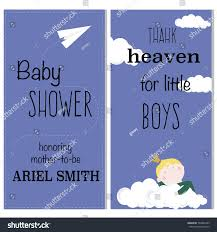 baby shower card invitation template boys stock vector 504952285