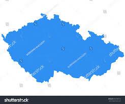 Map Of Czech Republic Vector Map Czech Republic Isolated Vector Stock Vector 505790158
