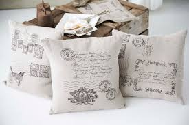 embroidered vintage style pillows home décor embroidered stamps