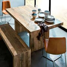 wood dining room sets industrial dining tables chairs west elm