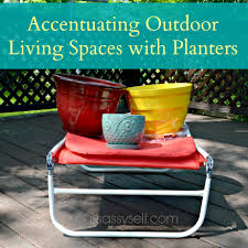 accentuating outdoor living spaces with planters your sassy self