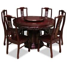 Round Cherry Kitchen Table by 48in Rosewood Round Dining Table With 6 Chairs Bird U0026 Flower