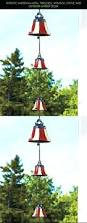 Metal Christmas Decorations For The Yard Patriotic Americana Metal Triple Bell Whimsical Statue Yard Outdoor